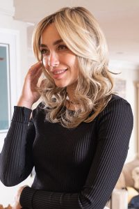 Beach Wave Synthetic front lace wig